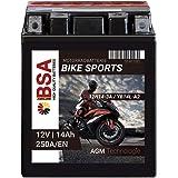 Langzeit Agm Motorrad Batterie Yb14l A2 14ah 12v 260a En Motorradbatterie Quad Baumarkt