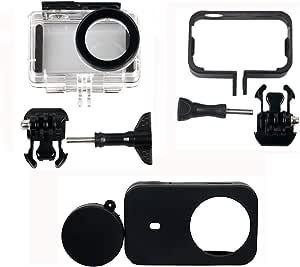 Kingwon 4 In 1 Protector Zubehörkit Für Xiaomi Mijia 4k Mini Action Kamera Wasserdichte Schutzhülle Kunststoff Rahmenhülle Silikonhülle Objektivabdeckung Sport Freizeit