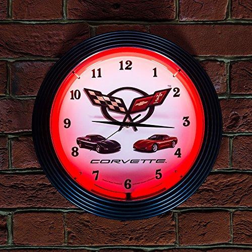 corvette-c5-neon-clock-240v-3-prong-uk