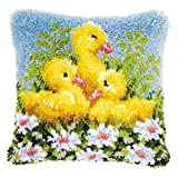 Vervaco PN-0153894 Knüpfkissen Enten Knüpfpackung zum Selbstknüpfen eines Kissens