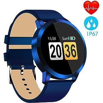 Pulsera Actividad Inteligente full OLED táctil Reloj Podometro Pulsera Hombre Mujer Impermeable IP67 Color Monitor de Frecuencia Cardiáco Reloj Inteligente ...