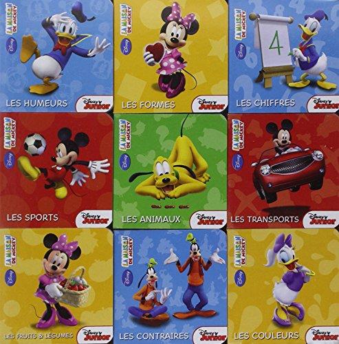 9782014636574La Maison de Mickey, 1ères Notions en Coffret 9 livres Tout carton