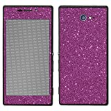 atFolix Sony Xperia M2 Skin FX-Glitter-Rich-Lilac Designfolie Sticker - Reflektierende Glitzerfolie