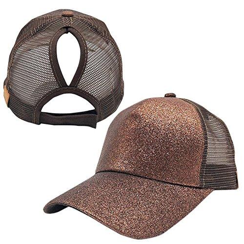 Ponytail Baseballkappe, Pailletten Glänzend Einstellbare Baumwolle Klassischen Sport Hut, Sommer Sun Cap für Frauen Erwachsene