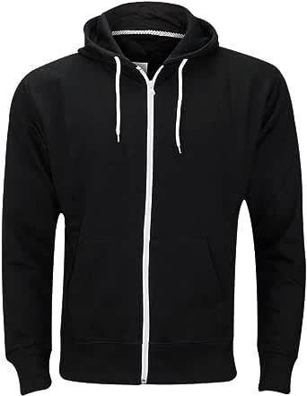 Mens Fleece Hoodie Gym Sports Workwear Jacket Joggers Hoody Sweatshirt Plain Overhead Hooded Top UK Size S-5XL