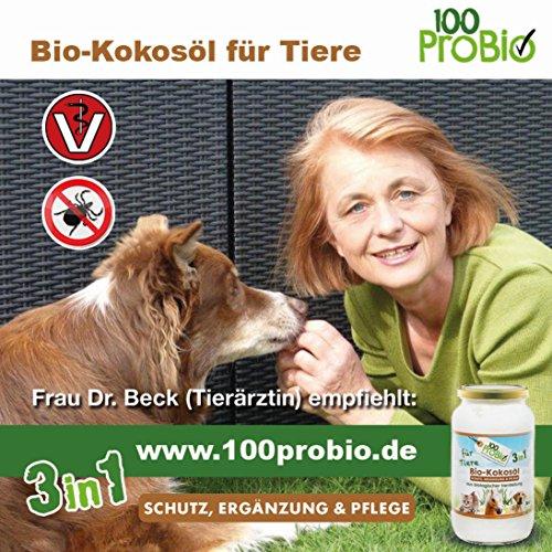 Kokosöl für Tiere 1000ml -ein natürlich wirksamer Schutz gegen Zecken, Milben, Parasiten & Fellpflege ohne Chemie - 5