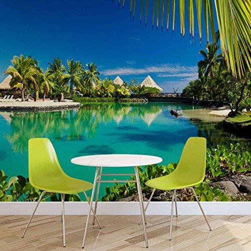 insel-palmen-tropischer-see-fototapete-wandbild-fototapeten-bild-tapete-vlies-easyinstall-577ws