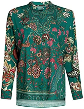 oodji Collection Mujer Blusa Ancha con Estampado Floral