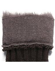 Lange Strick Armstulpen Stulpen Pulswärmer winter fingerlose Handschuhe Farbwahl