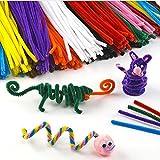 jakerbing grande Paquete Limpiapipas Multicolor para niños para manualidades y decorar–500Unidades)