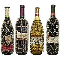 Royal Designs cuentas para botella de vino fundas