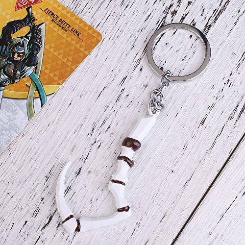 Sedeta® Schlüsselkette keyclain Schlüsselring zurück zu Schule neues Geschenk Dota2 Pudge eingeschriebenes Dragonclaw Hakenentwurf Pendant Dendis favorit