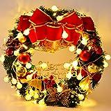 Coxeer Ghirlande di Decorazione di Natale con Candele palla appeso Ghirlanda Natale per la Casa