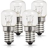 4 x 25W E14 Ampoule Four, AOYISO Ampoule Four 300 degrés, Base à vis Edison Gradable, 200LM, Blanc Chaud 2700K Ampoule Incand