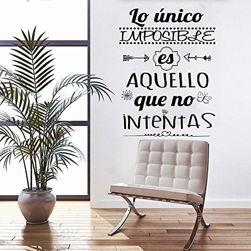 Frase vinilo lo nico imposible es aquello vinilos for Vinilos pared frases