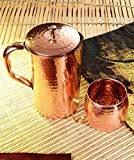 #6: Frestol Handmade Copper Jug Set, 2-Pieces, Brown (FRKWC0002CP)