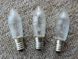 3Leuchtmittel 14V/3W geriffelt für Lichter, Fassung E10