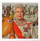 """Juniqe® Affiche 30x30cm Personnages politiques Pop Art - Design """"London Calling"""" (Format : Carré) - Poster, Tirages d'art & Tableaux par des Artistes indépendants créé par Bisha Design..."""