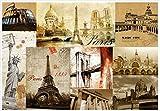 Chlwx 3D-Wandbilder Tapeten Benutzerdefinierte Bild Wandbild Tapete Retro Europäische Und Amerikanische Architektur Dekoration 3D Wallpaper 300Cmx200Cm