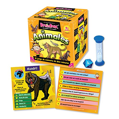 Brain Box Juego de Memoria Animales, Multicolor (Green Board Games 316470A)