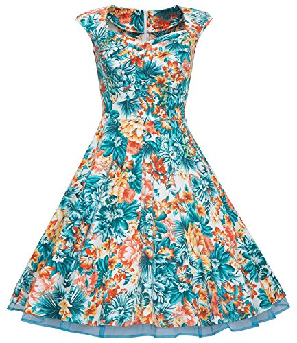 U-shot - Robe - Manches Courtes - Femme S/34, M/36, L/38, XL/40, XXL/42, XXXL/44 Floral