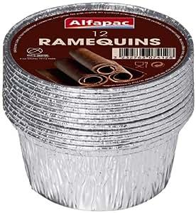Alfapac - 8115KR12 - Barquette Aluminium - 12 Ramequins - Lot de 4