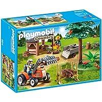 Playmobil Vida en el Bosque - Leñador con tractor (6814)