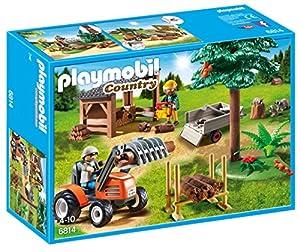 PLAYMOBIL- Country Almacén de Madera y Tractor Playsets de Figuras de Juguete, Multicolor (6814)