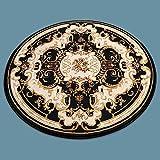 BAGEHUA maßgeschneiderte Türkei hochwertige klassische Dicke Wohnzimmer Schlafzimmer Studie runden Teppich, Durchmesser 160 cm Kreis, 6951 Schwarz