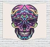 HYRL Tapestry Tapisserie Skull Design Squelettes Tous Les Saints Halloween Image Serviette De Plage Tenture Murale Art Room Decorations Chambre Salon Dortoir Tenture Murale,#2,150×200Cm