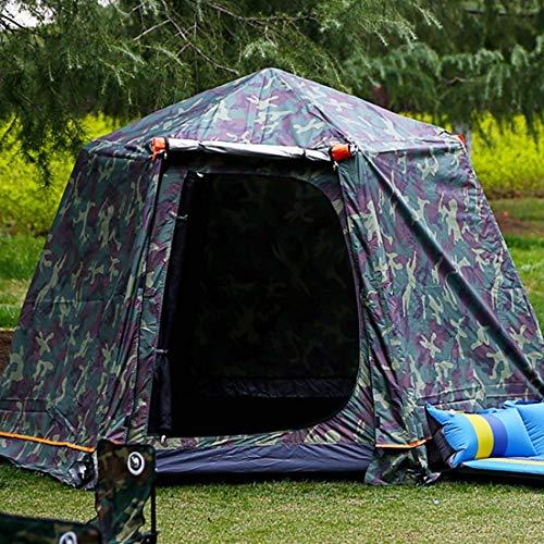 APRFELICIA Doppeltes Outdoor-Zelt Super hoch 3-4 Personen Hexagono Automatisches Zelt Aluminium Teleskopstange Dew 05