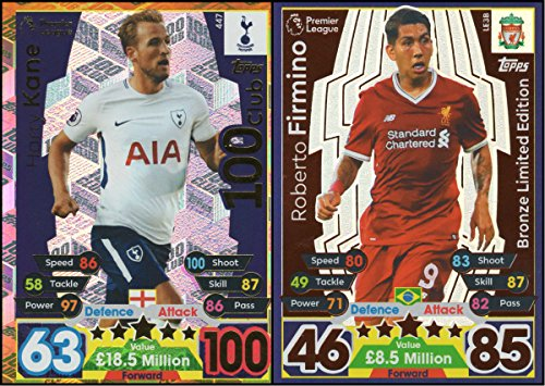 MATCH ATTAX 17 18 HARRY KANE 100 CLUB CARD   ROBERTO FIRMINO BRONZE LIMITED EDITION CARD
