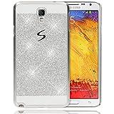 delightable24 Schutzhülle Sparkle Design Case SAMSUNG GALAXY NOTE 3 NEO Smartphone (HINWEIS!!!:NICHT FÜR NOTE 3!!!) - Silber