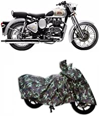 HOLME'S Jungle Print Two Wheeler Cover for Royal Enfield Classic 350 (Water Resistant)