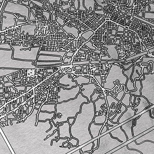 Florenz Stadt Karte Mode Stadt Karte Damen Schwarz S-2XL Muskelshirt | Wellcoda Grau
