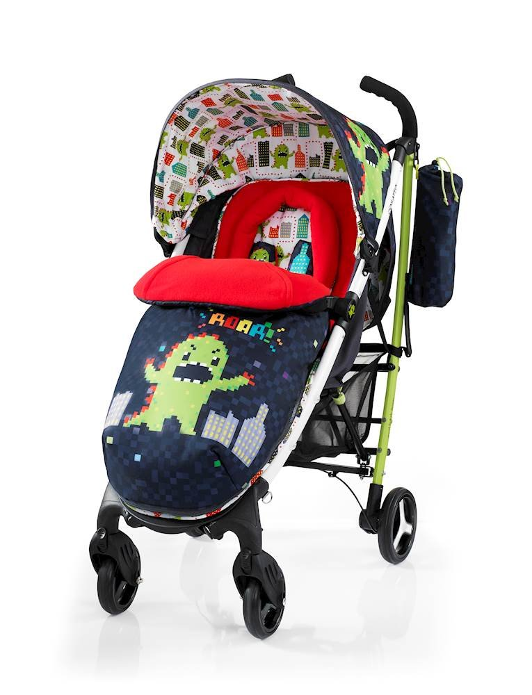 Cosatto Yo 2 Stroller, Suitable from Birth, Monster Arcade Cosatto Suitable from birth stroller with 4 years guarantee Extra wide seat, with multiple recline positions and adjustable leg rest for added comport Handy compact umbrella fold with auto lock, lightweight aluminium chassis and handy carry handle 1