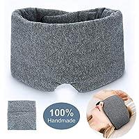 Schlafmaske aus 100% handgefertigter Baumwolle, Verdunklung, bequem und atmungsaktiv, für Schlafen, Augenbinde... preisvergleich bei billige-tabletten.eu