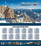 Deutschland 2018 3-Monatskalender: Praktischer Monatsplaner mit umfassendem deutschen Kalendarium - Jörg Neubert
