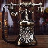 Antike Vintage Festnetztelefone, Wähleinstellungen schnurgebundene Telefone, Retro-Drehscheibe Telefon mit Metallgehäuse, Home/Office Zubehör Dekor