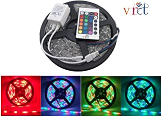 VRCT RGB Remote Control LED Strip Light Colour Changing for Diwali and Christmas Lighting (Multicolour)