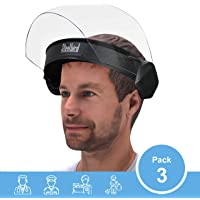 Steelbird SBA-6 7Wings Visor Flip-up Face Shield, Face Protection Shield, Full Face Protector For All Front Line Warriors (Doctors, Nurses, Police, Shopkeepers, Any staff) (Pack of 3)