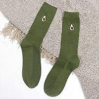 TDPYT 5 Unids/Funny Kawaii Calcetines De Frutas Bordado De Impresión Mujeres Lindas Soild Algodón Calcetines Calcetines