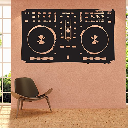 Vintage-Boombox-Wandaufkleber-Dj-Musik-Wandtattoo-Schlafzimmer-Haus-Dekor-verfgbar-in-5-Gren-und-25-Farben-Klein-Blatt-Grn