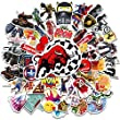 Lot Autocollant [200-PCS,20 Types], Q-Window Vinyle Pop Graffiti Stickers Autocollants pour Skateboard Valise Iphone Ordinateur Portable Voiture Moto Ps4 Livre Vélo Enfants Xbox One Scrapbooking Casque Macbook Noeud Bumper Bomb Sticker