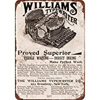 1896 Williams máquina de escribir vintage look reproducción Metal Tin Sign ...