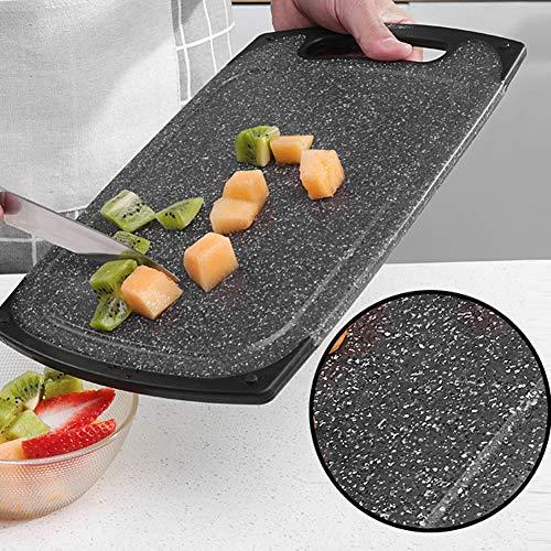 Schneidebrett aus Granit, gesprenkelt, Premium-Glasschneidebrett, Schwarz 40 * 24cm 3# - Schwarzer Granit Schneidebrett