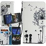 Dooki, HTC 10 Hülle, PU Leder Ständer Brieftasche Flip