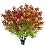 Zeagro Plantes Artificielles Extérieur en Plastique Fleurs Faux Buissons Arbustes Verdure Plantes Fleurs De Printemps Pièce maîtresse pour Vase Jardin Salon Pot 2pcs