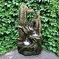 Wasserspiel Temuka Polystone steckerfertiges Set mit Pumpe & LED Brunnen Kunststein Kaskade edel Intergarden von Intergarden - Du und dein Garten
