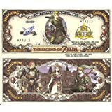 Novelty Dollar The Legend of Zelda Link One Million Dollar Bills x 4 New